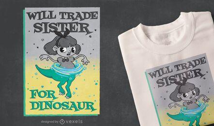 Diseño de camiseta de hermana comercial