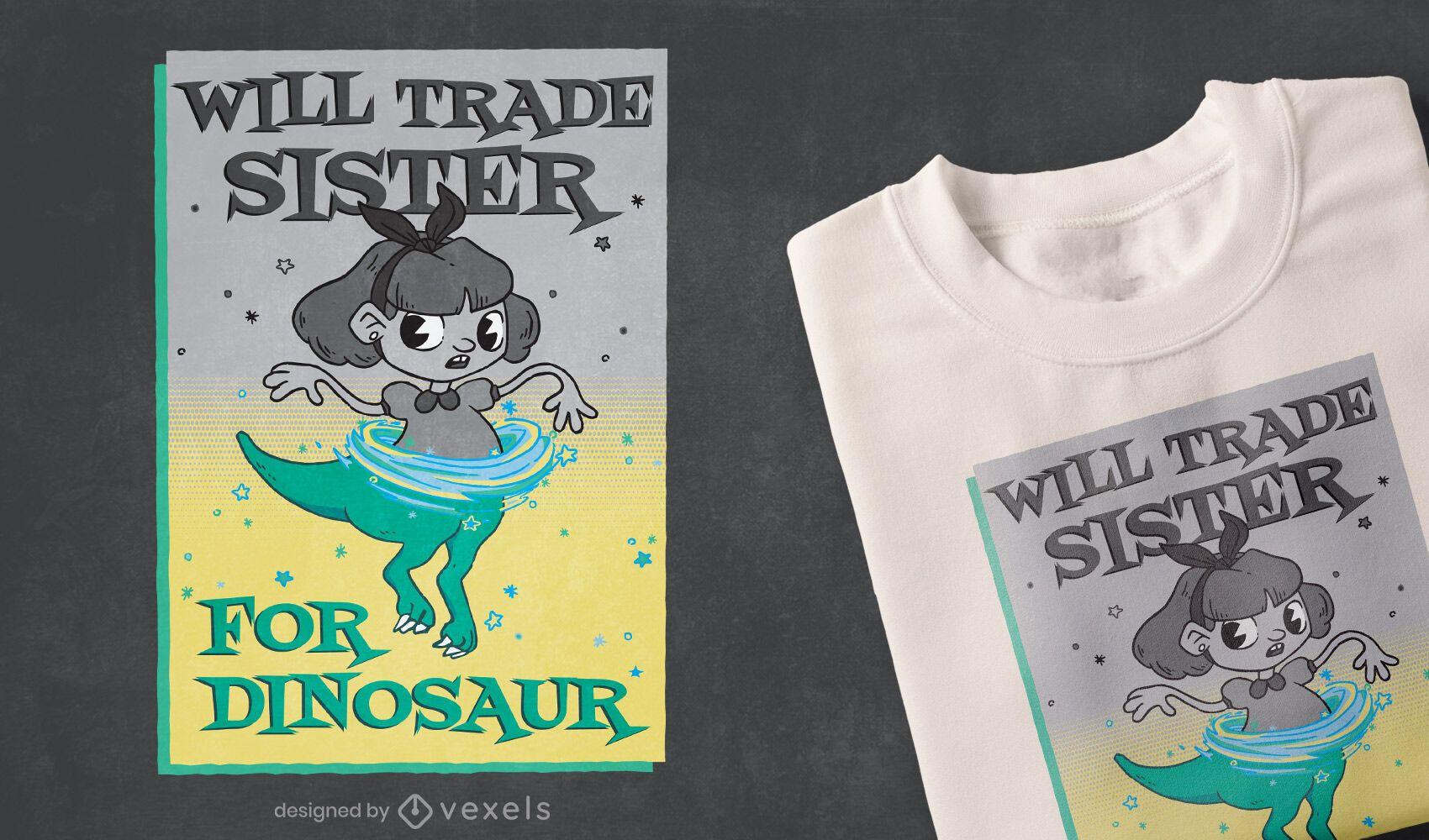 Design de camiseta irmã comercial
