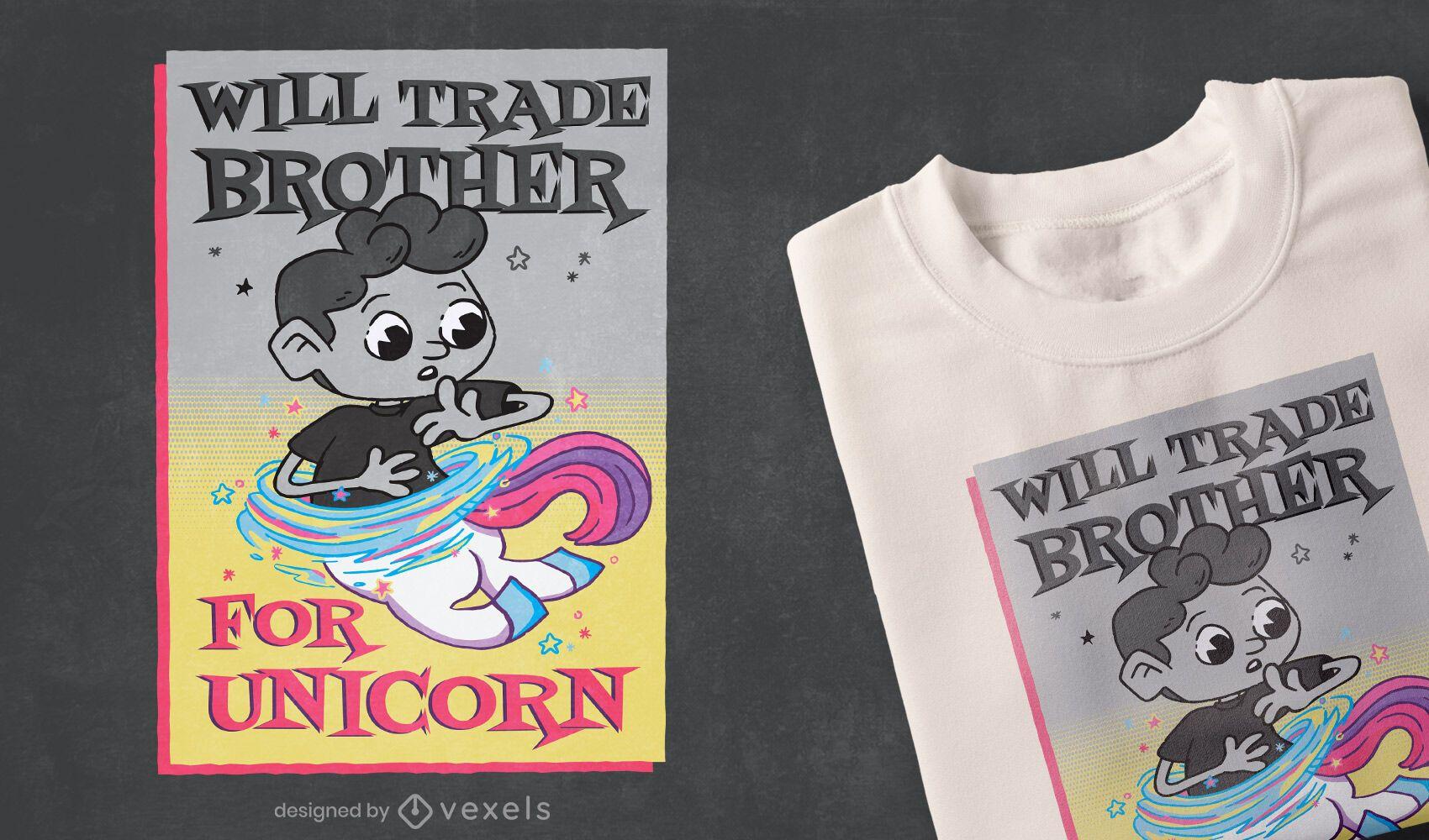 Design de camiseta do irmão comercial
