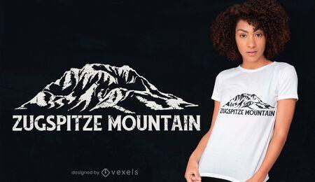 Design de camiseta da montanha Zugspitze