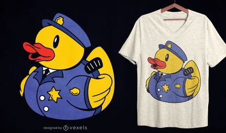 Police rubber duck t-shirt design