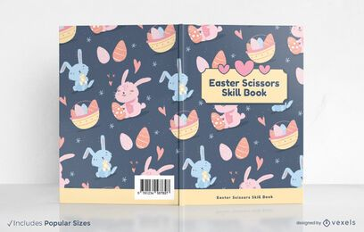 Easter scissors skill book cover design