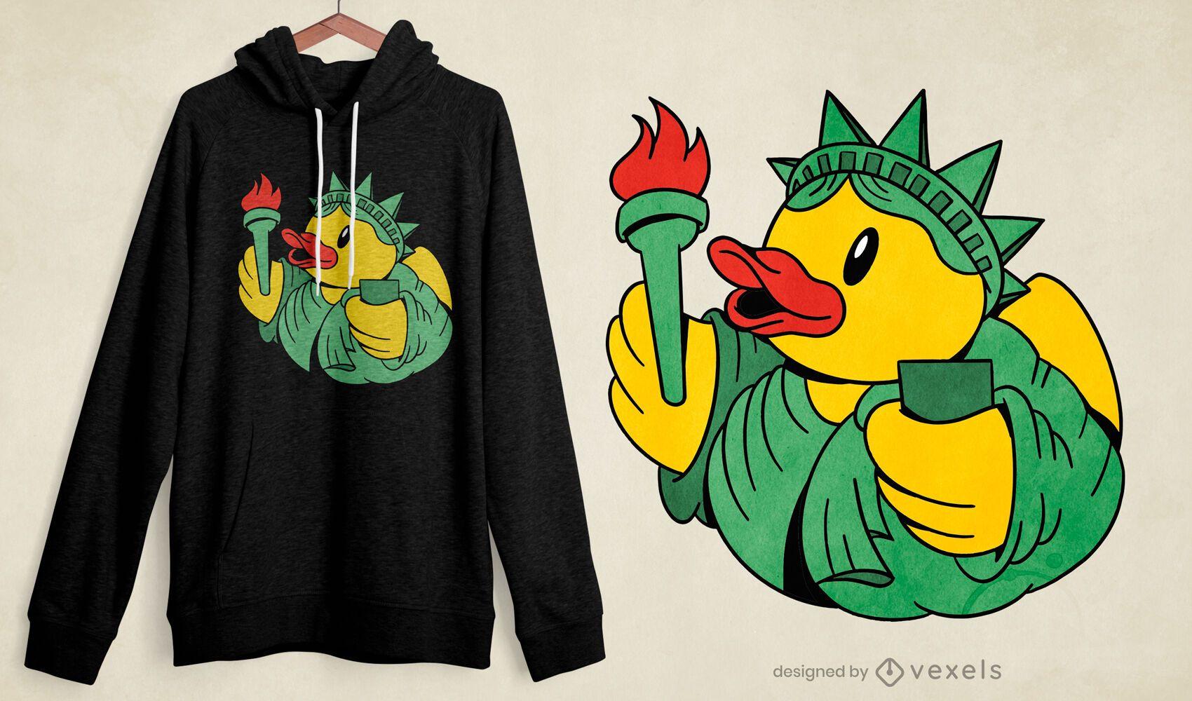 Diseño de camiseta Liberty Rubber Duck