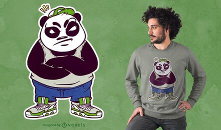 Mad male panda t-shirt design