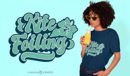 Kite foiling t-shirt design