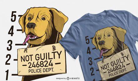 Diseño de camiseta de perro mugshot