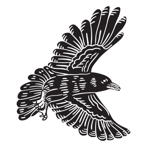 Flying crow bird cut-out