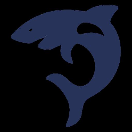 Sideways shark silhouette