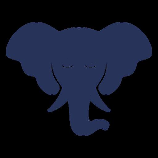 Frontal Elephant Head Silhouette