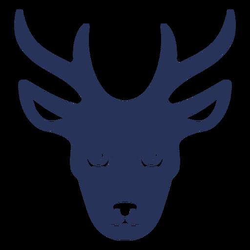 Deer head frontal silhouette