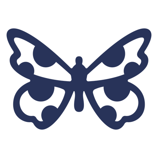 Simple dotted butterfly element