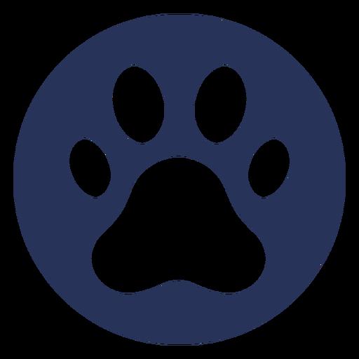 Dog paw icon emblem