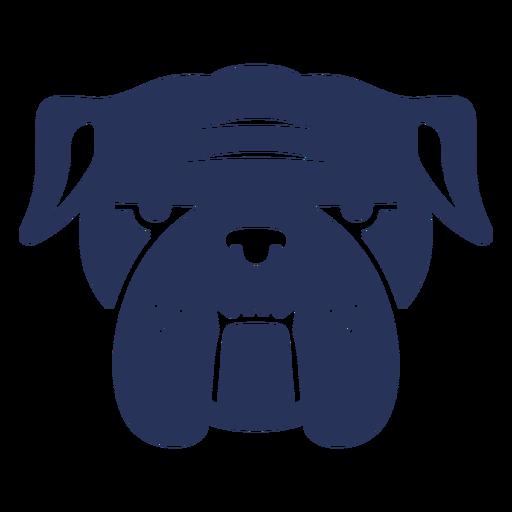 Bulldog dog head silhouette