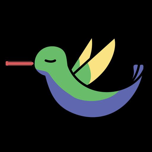 Stroke flying sideways hummingbird