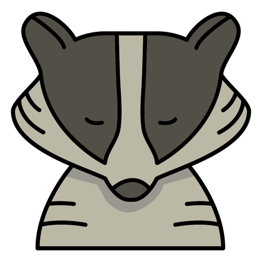 Cute raccoon face with eyes closed