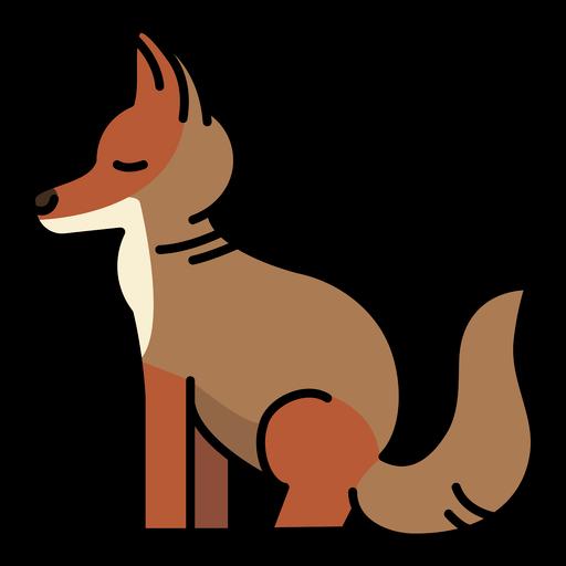 Sideways stroke semi flat fox
