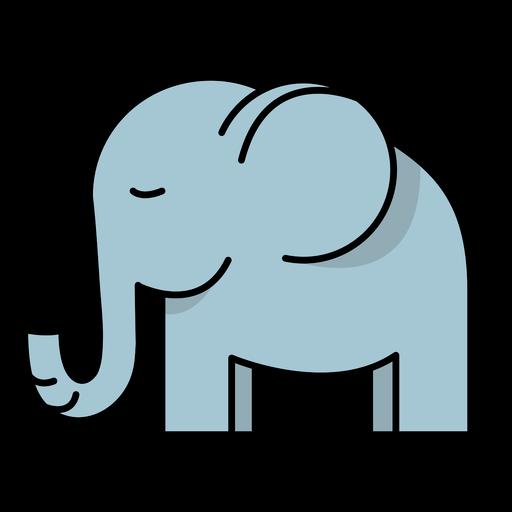 Cute semi flat sleeping elephant stroke