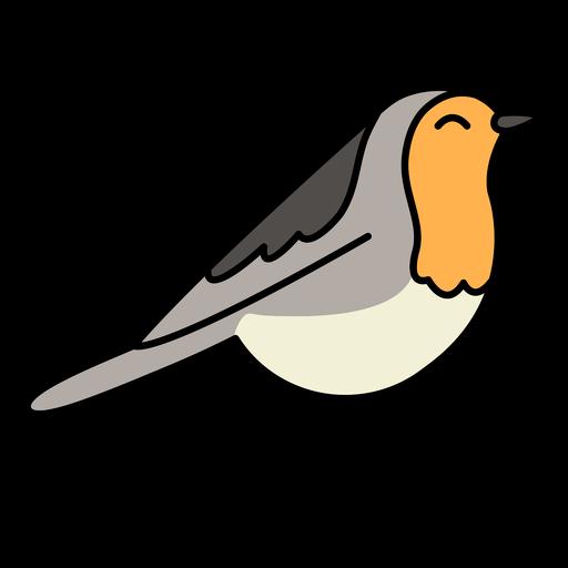 Color stroke cute bird
