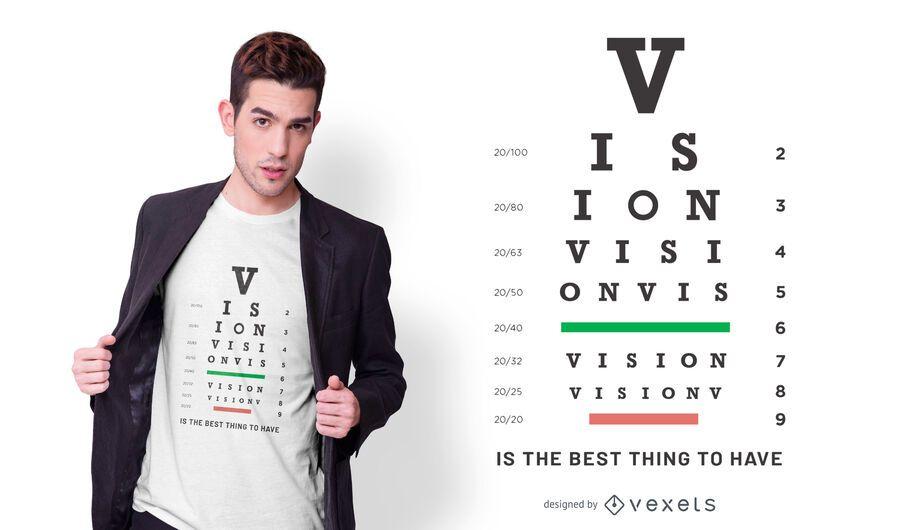 Design de t-shirt Vision Eye Chart