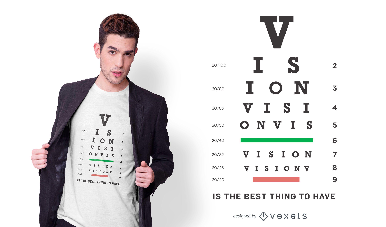 Diseño de camiseta con gráfico de visión.