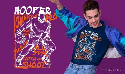Diseño de camiseta de baloncesto Hooper.