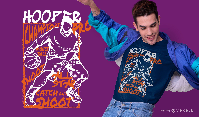 Dise?o de camiseta de baloncesto Hooper.