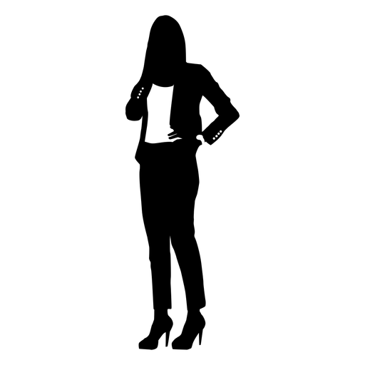 Business woman silhouette phone call
