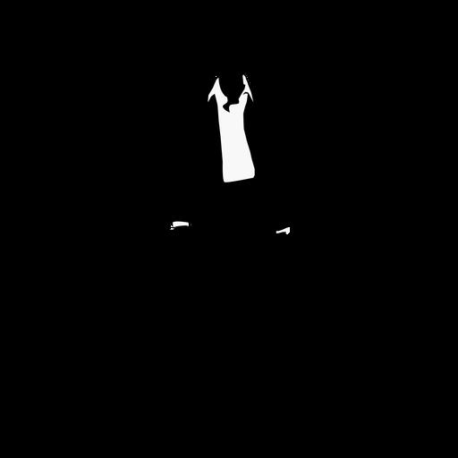 Business woman fancy suit silhouette