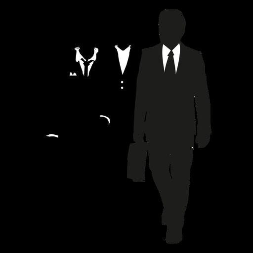 Hombres de negocios caminando silueta