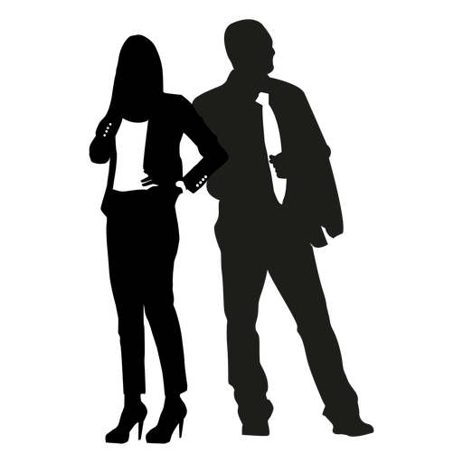 Business people pose silhouette