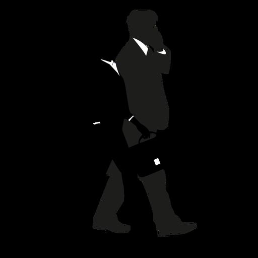 Businessmen walking silhouette