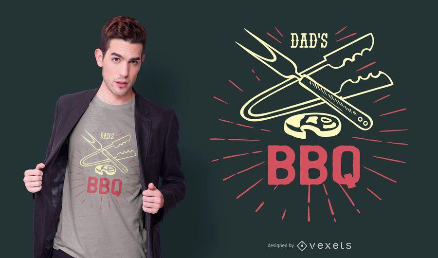 Diseño de camiseta papás bbq