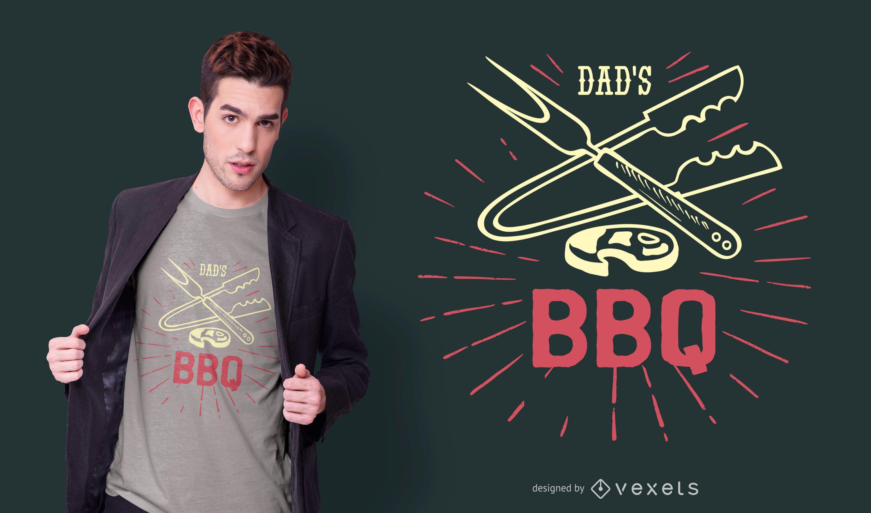 Dads bbq t-shirt design
