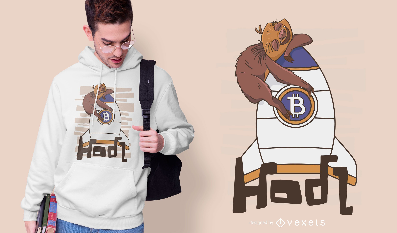 Bitcoin sloth t-shirt design