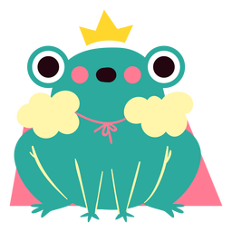 Queen frog cute character