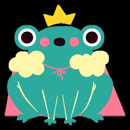 Queen frog cute character