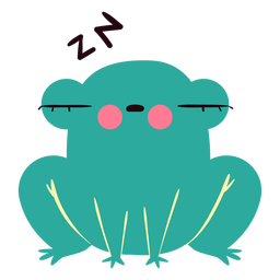 Sleepy frog cute character
