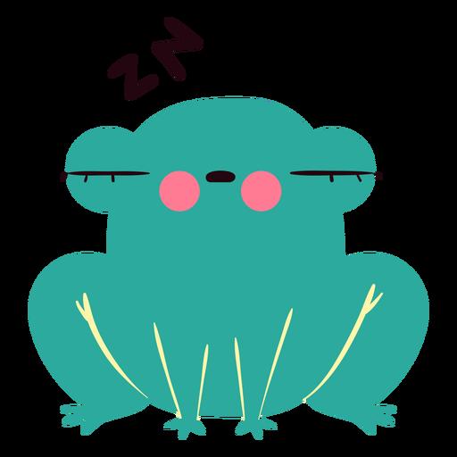Lindo personaje de rana soñolienta
