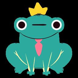 King frog cute character