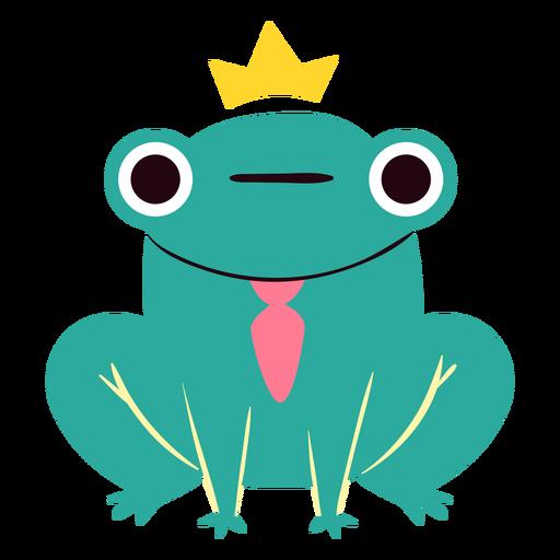 Lindo personaje de rana rey
