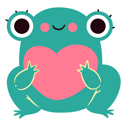 Carácter lindo del corazón de la rana