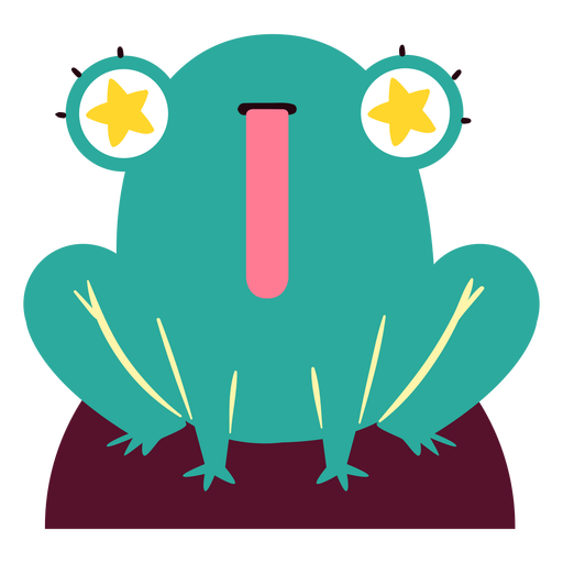 Car?cter de ojos estrellados de rana