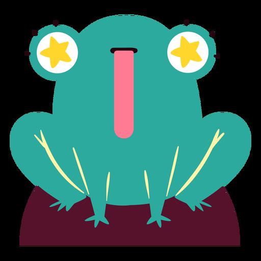 Personagem de olhos estrelados de sapo