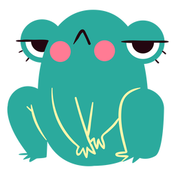 Angry frog cute character