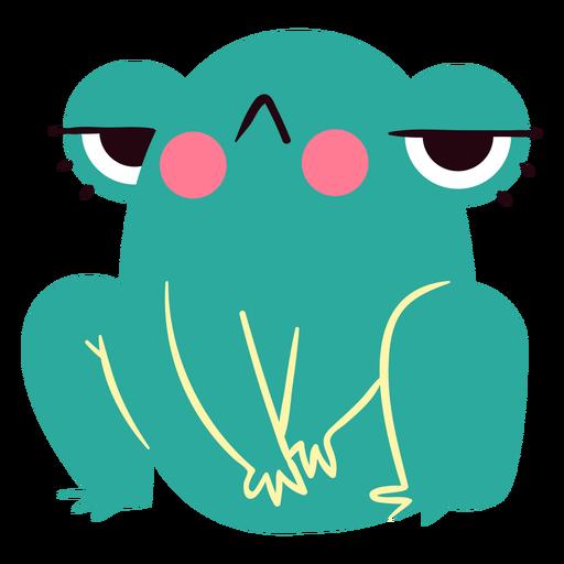 Lindo personaje de rana enojada