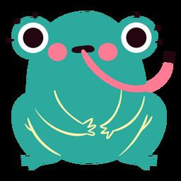 Lindo personaje de rana sorprendida