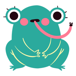 Surprised frog cute character