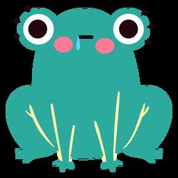 Lindo personaje de rana hambrienta