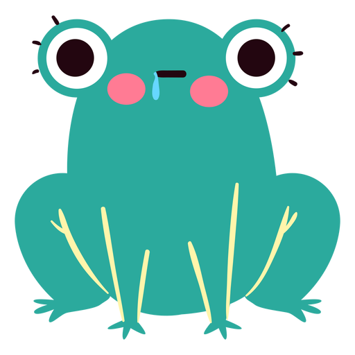 Hungry frog cute character Transparent PNG