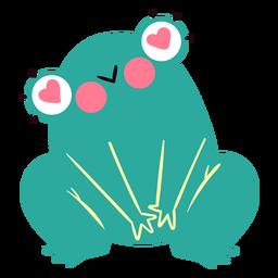 Carácter de rana cariñosa lindo